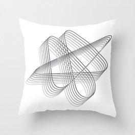 Neverending lines Throw Pillow
