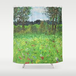 Stroll In County Galway Shower Curtain