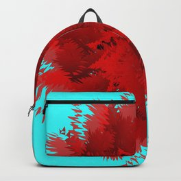 Flower-blown carnations. Memory Colors, school, cottages Backpack