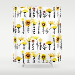 Sunny Days Ahead / floral art Shower Curtain