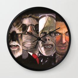 Monster Collage Wall Clock