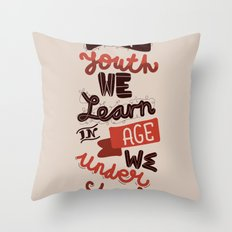 Youth & Age Throw Pillow
