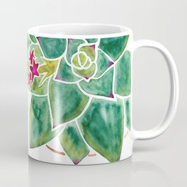 Watercolour Succulents and Copper, Watercolor Succulents and Copper Coffee Mug