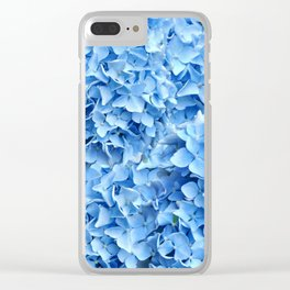 BABY BLUE HYDRANGEAS FLORAL ART Clear iPhone Case