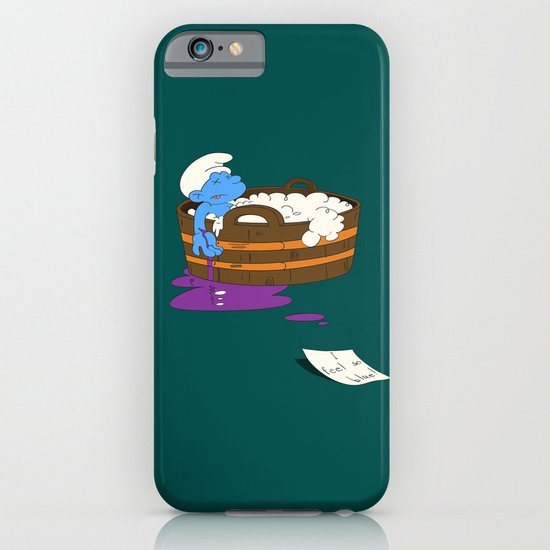 SUICIDAL SMURF  iPhone & iPod Case