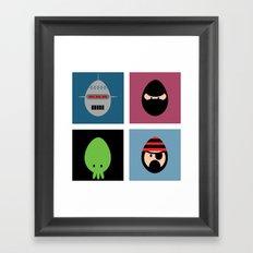 Robot Ninja Cthulhu Pirate Framed Art Print