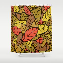 Autumn Memories (a pile of leaves) Shower Curtain