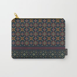 Geometric patterned print - Cat Carry-All Pouch