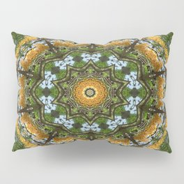 Yellow Tree Flower Kaleidoscope Art 7 Pillow Sham