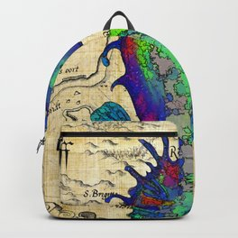 Seahorse Papyrus Map Backpack