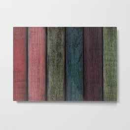 Rainbow Planks Metal Print