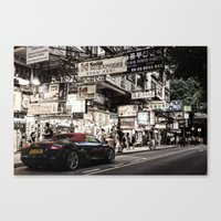 audi Canvas Prints featuring Audi R8 on the Streets of HKG by Gerald Schömbs