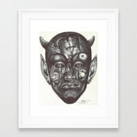 evil Framed Art Prints featuring Evil by Mondésir Arly