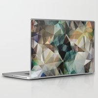 garfield Laptop & iPad Skins featuring Abstract Grunge Triangles by Phil Perkins