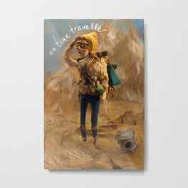 Time Traveler Metal Print