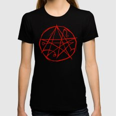 Necronomicon X-LARGE Womens Fitted Tee Black