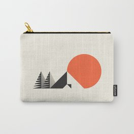 Camp // Geometric Minimalist Illustration Carry-All Pouch