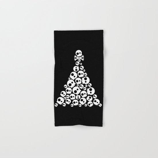 Skulls Christmas Tree Hand & Bath Towel