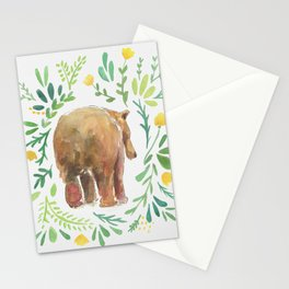 Watercolor Bear Stationery Cards