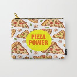 pizza power funny quote Carry-All Pouch