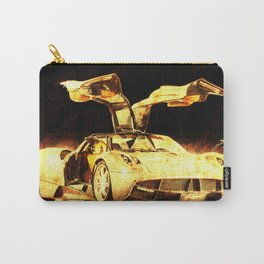 101 Pagani Huayra golden art print, gift for men, man cave decoration Carry-All Pouch