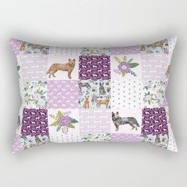 Australian Cattle Dog cheater quilt pattern dog lovers by pet friendly Rectangular Pillow