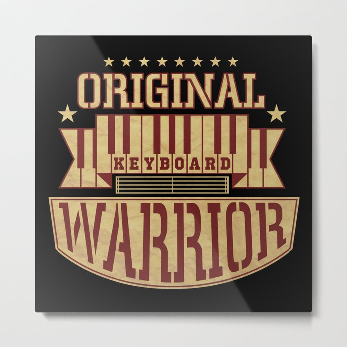 Keyboard Warrior Metal Print