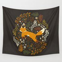 general Wall Tapestries featuring Fox Tales by Anna Deegan