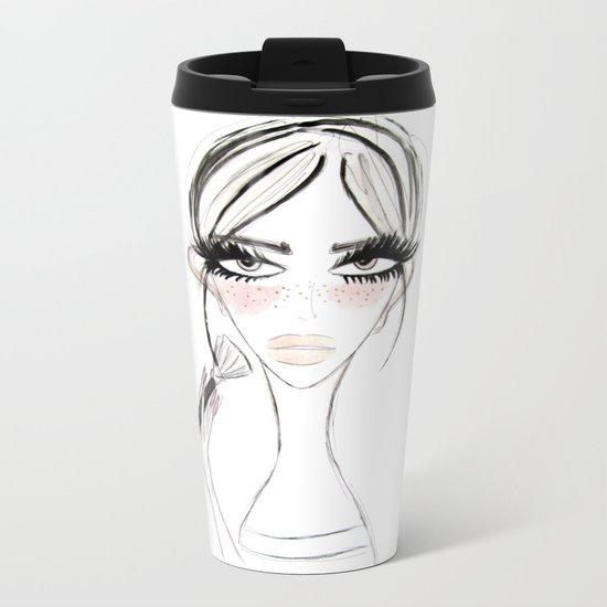 Morning MakeUp Metal Travel Mug