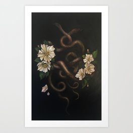Two Snakes Art Print