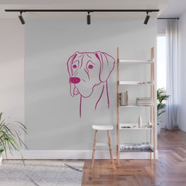 Great Dane (Light Gray and Berry) Wall Mural