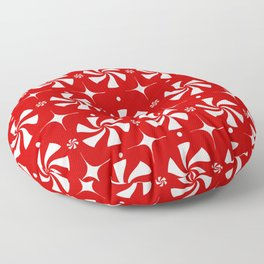Red Peppermint Candy Floor Pillow