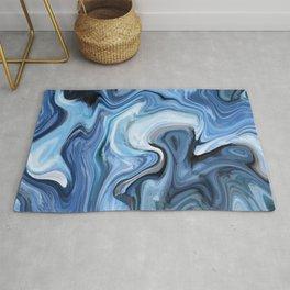 Marble texture print Rug