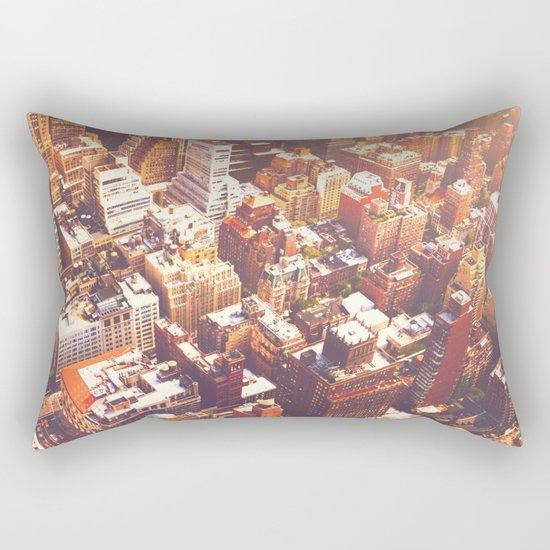 New York City Skyline Summer Rectangular Pillow