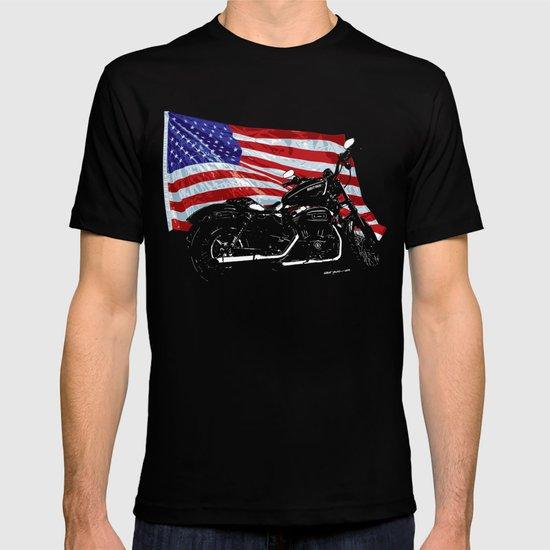 DARK HARLEY SPORTSTER MOTORCYCLE T-shirt