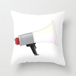 Megaphone Throw Pillow