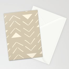 Mud Cloth Vector in Tan Stationery Cards