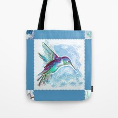 Blue Jewel Box Hummingbird Tote Bag