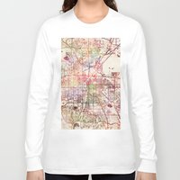 denver Long Sleeve T-shirts featuring Denver by MapMapMaps.Watercolors