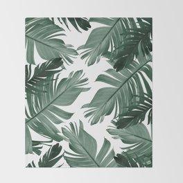 Tropical Banana Leaves Pattern #3 #tropical #decor #art #society6 Throw Blanket