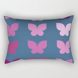 Butterflies in Purple Ombre with Dark Blue Background Rectangular Pillow