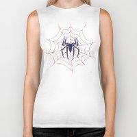 spider Biker Tanks featuring Spider by Vickn