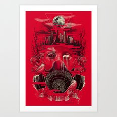 Industry Vs. Ecology Art Print