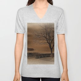 Postcard from the Seaside Unisex V-Neck