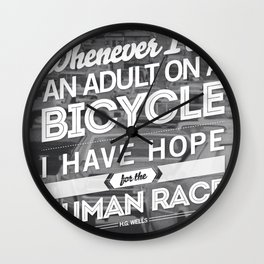 Hope For The Human Race Wall Clock