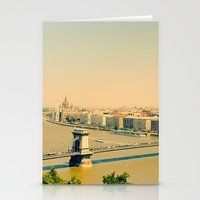 budapest Stationery Cards featuring Budapest  by Arevik Martirosyan