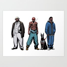 Legendary Rappers Art Print