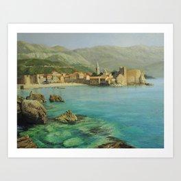 Bay Near Old Budva Art Print