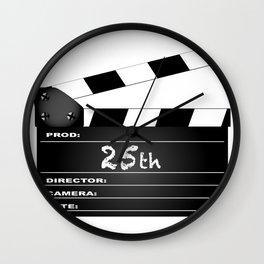 25th Year Clapperboard Wall Clock