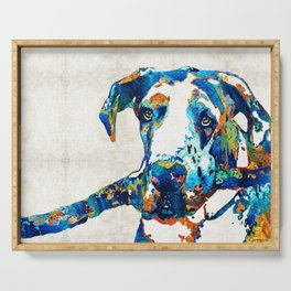 Great Dane Art - Stick With Me - By Sharon Cummings Serving Tray